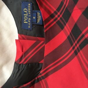 Polo by Ralph Lauren Dresses - Girls Polo red and black plaid dress, size 8